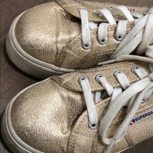 Superga Shoes - Women's Superga Platform Gold shimmer sz 37
